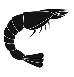 fresh sea shrimp icon simple style vector image