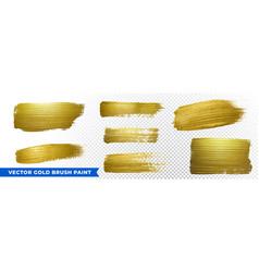 gold brush paint strokes golden glitter texture vector image