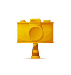 gold camera prize for best photographers challenge vector image