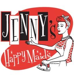Happy maids vector image