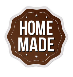 Home made label or sticker vector