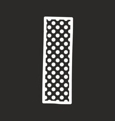 I alphabet letter with white polka dots on black vector