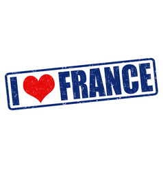 I love france stamp vector