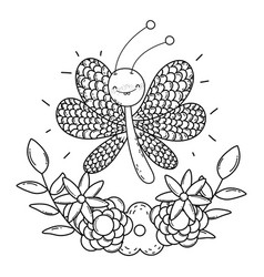 isolated butterfly draw cartoon design vector image