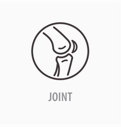 Joint line icon on white background vector