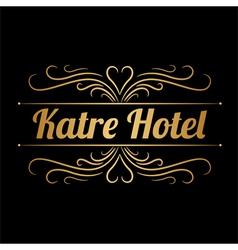 Katre hotel logo vector image
