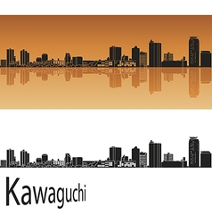 Kawaguchi skyline in orange vector image