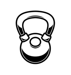 kettlebell weight in engraving style design vector image