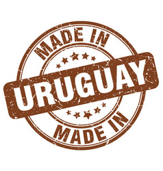 Made in uruguay brown grunge round stamp vector