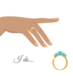 Marriage proposal or engagement concept vector