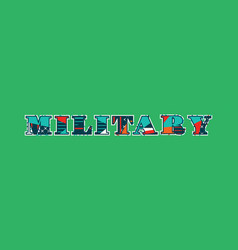 Military concept word art vector