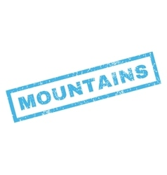 Mountains Rubber Stamp vector