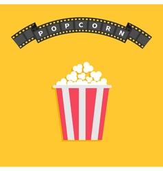 Popcorn big film strip round wave ribbon line vector