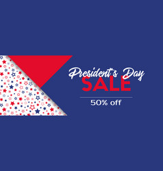 presidents day sale banner template vector image