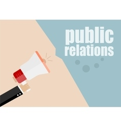 Public relations flat design business vector