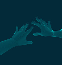 Reaching hands vector