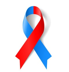 Red and blue ribbon vector