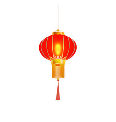 Red chinese lantern isolated vector