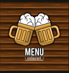 Restaurant menu cover vector