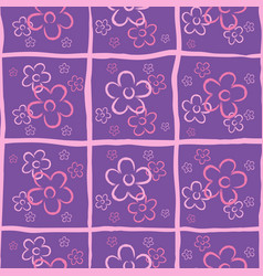 Seamless flower print ongoing pattern of vector