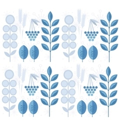Seamless winter pattern with leaves snowflakes vector image vector image