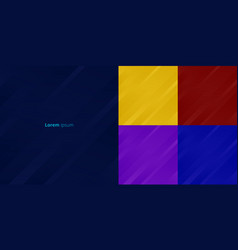set abstract yellow red purple blue vector image