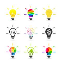 Set lightbulb concepts vector