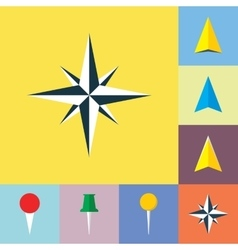 Set of navigational Flat Icons vector image