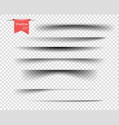 set transparent overlay shadows vector image