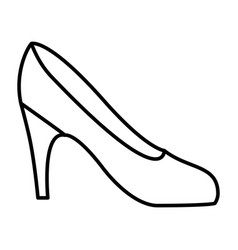 Silhouette drawing of high heel shoe vector