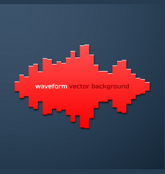 Silhouette sound waveform with shadow vector