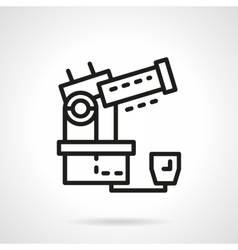 Space research equipment simple line icon vector image