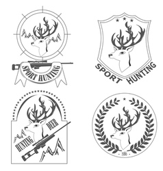 sport hunting deer vector image