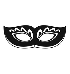Strange carnival mask icon simple style vector