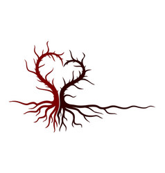 tree symbol with heart vector image