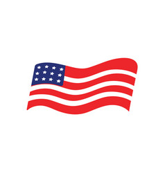 usa flag icon design template isolated vector image