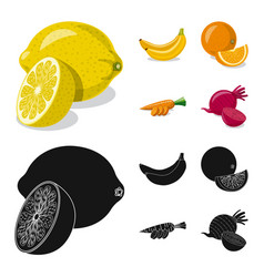 vegetable and fruit logo vector image
