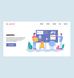Web site gradient design template tracking vector