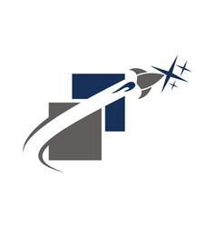 Website page rocket vector