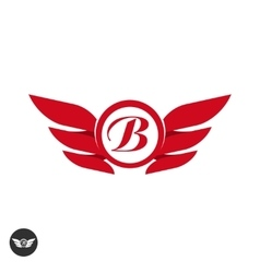 Wings logo element template designemblem vector