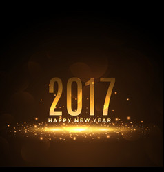 2017 happy new year background with golden vector image vector image