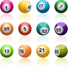 Lottery bingo background vector