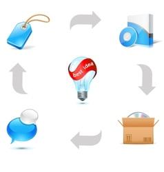 sales good scheme vector image