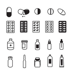 set of pharmaceutical icons vector image vector image