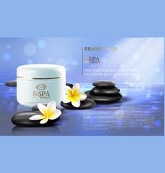 spa cosmetics advertising brochure template vector image