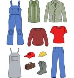 Worker plumber man woman fashion set vector image vector image