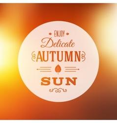 Autumn Sun Abstract Background vector image