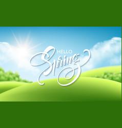 beautiful spring landscape background vector image
