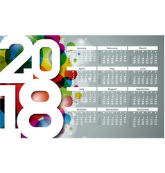calendar 2018 template with vector image