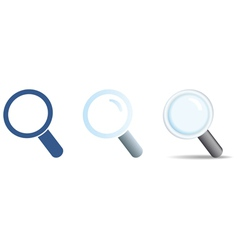 search icons set vector image vector image